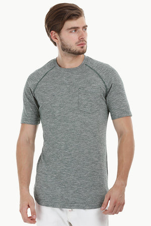 Long Heather Green T-Shirt