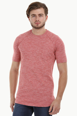 Long Heather Rust Red T-Shirt