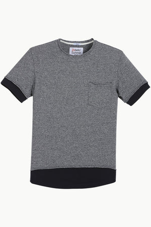 Long Line Navy Heather T-shirt