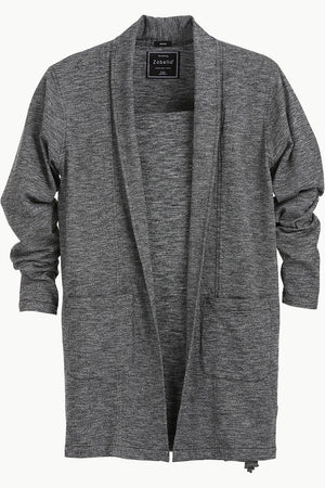 Longline Open Grey Cardigan