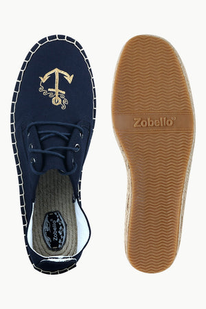 Men's Anchor Patch Lace-Up Espadrilles