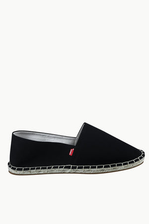 Men's Black Canvas Basque Espadrilles