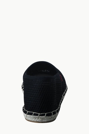 Mens Black Mesh Basque Espadrilles
