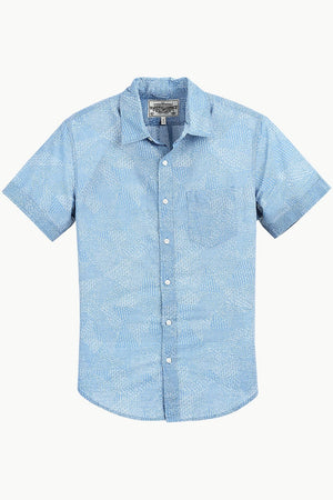 Men's Blue Bandana Print Shirt