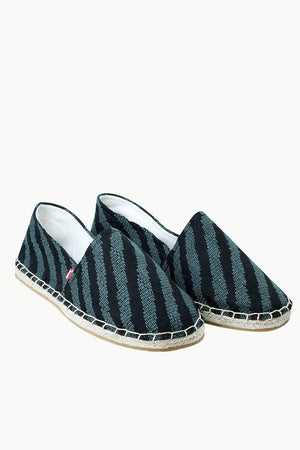 Men's Casual Stripe Knit Summer Espadrilles