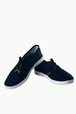 Men's Elastic Tassel Navy Boat Shoes