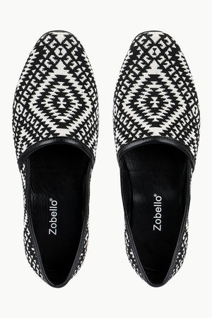 Men's Geometric Jacquard Slip-On Juttis