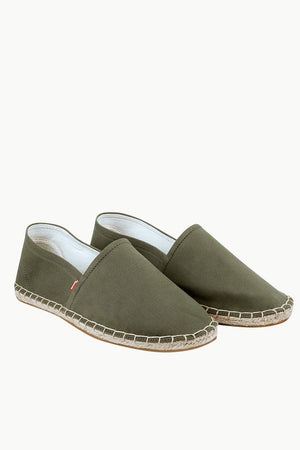 Men's Green Canvas Basque Espadrilles