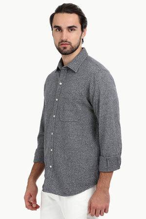Men's Heather Charcoal Knit Shirt