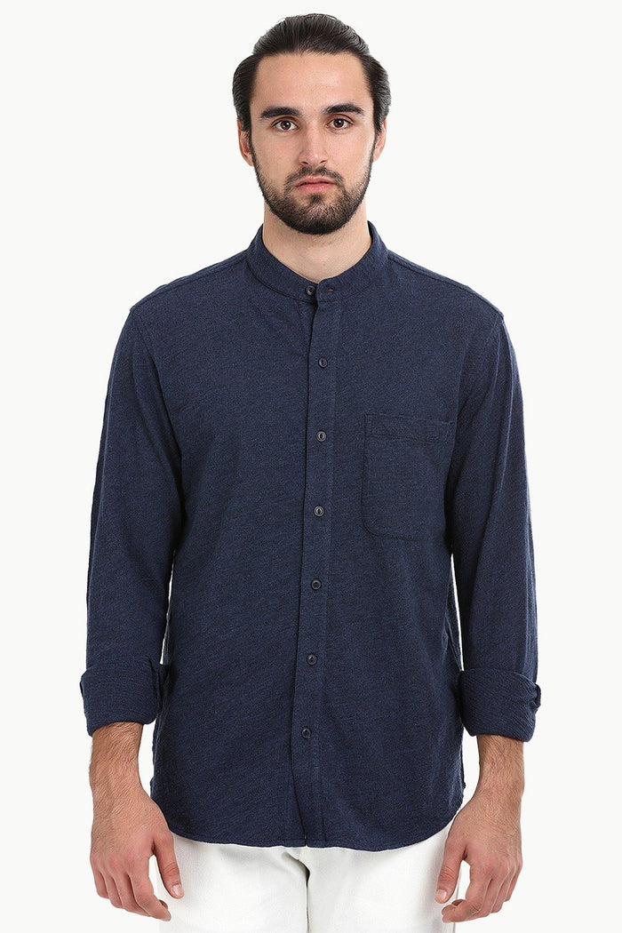 Men's Heather Navy Knit Shirt