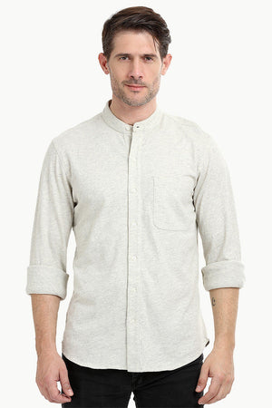 Men's Heather Oatmeal Knit Shirt