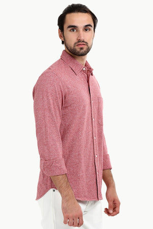 Men's Heather Pink Knit Shirt