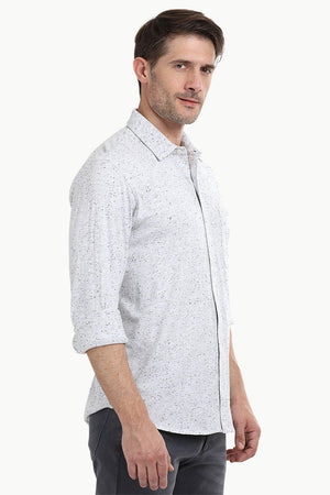 Men's Heather White Knit Shirt