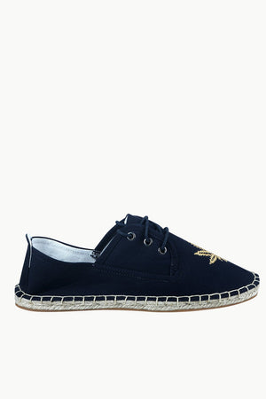 Men's Leaf Patch Lace-Up Espadrilles