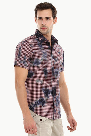 Men's Lemonade Pink Gingham Dyed Shirt