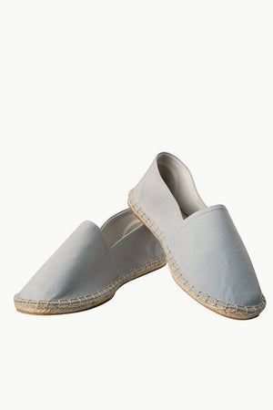 Men's Light Grey Canvas Basque Espadrilles