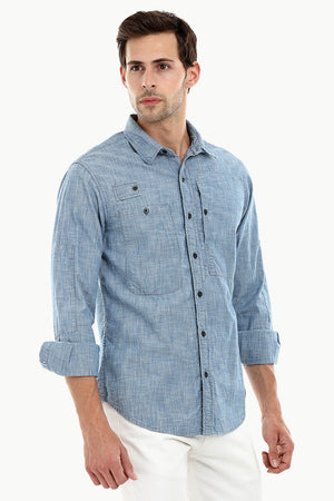 Men's Lightweight Casual Denim Shirt