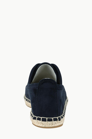 Men's Midnight Navy Suede Lace Up Espadrilles