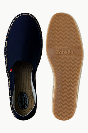 Men's Navy Canvas Basque Espadrilles