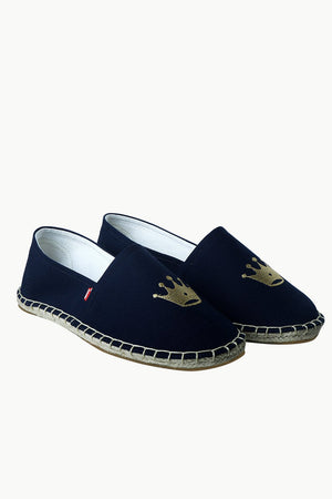 Men's Navy Crown Tag Espadrilles