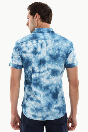 Men's Navy Tie Dye Summer Shirt