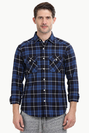 Men's Navy/Black Flannel Shirt