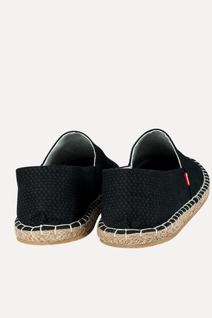 Men's Printed Black Canvas Espadrilles