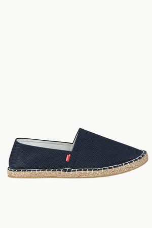 Men's Printed Navy Canvas Espadrilles