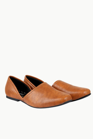 Mens Solid Brown Juttis