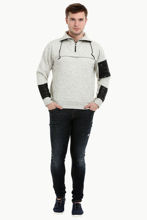 Men's Space Dyed Knit Popover Sweatshirt