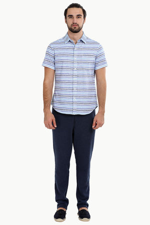 Men's Stripe Print Knit Shirt