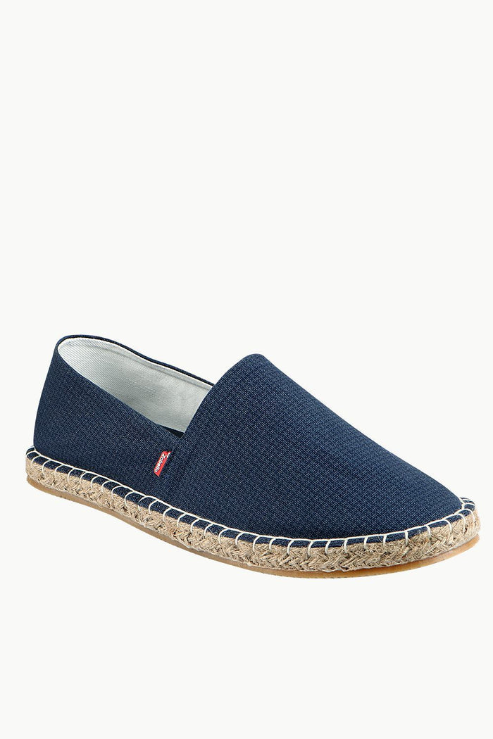 Men's Thread Print Navy Espadrilles