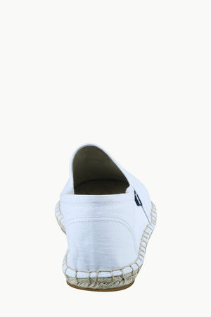 Men's White Canvas Basque Espadrilles