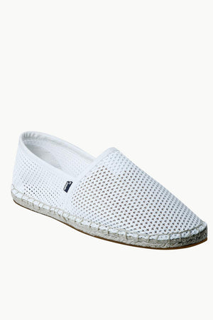Men's White Mesh Basque Espadrilles