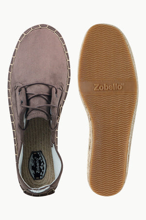 Men's Zinwaldite Suede Lace Up Espadrilles