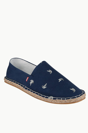 Mens Banana Embroidered Espadrilles