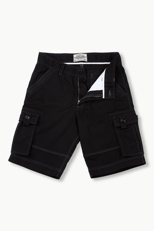 Mens Black Cargo Summer Shorts