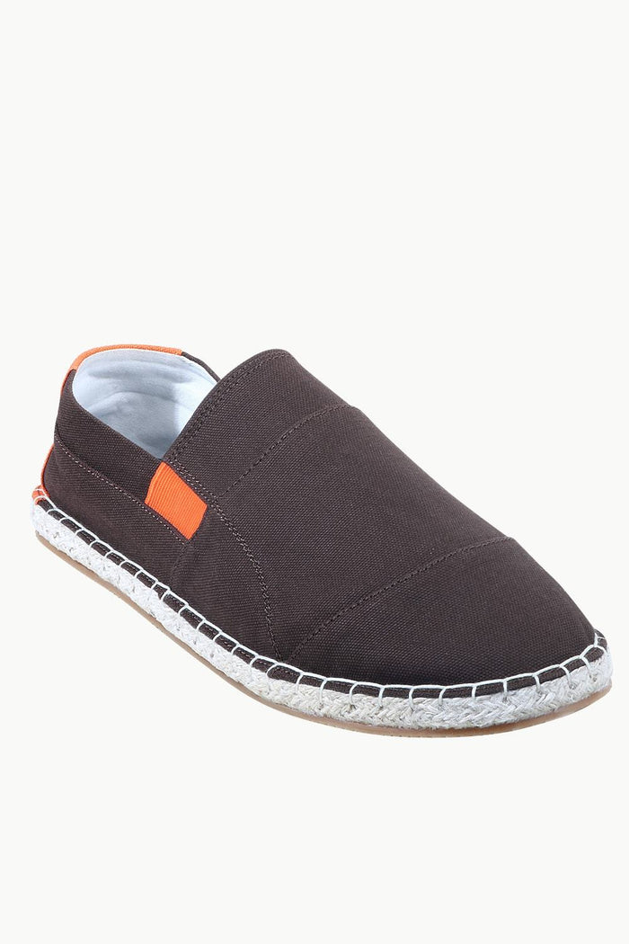 Mens Brown Cut N Sew Espadrilles