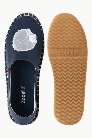 Mens Denim Indian Tag Espadrilles