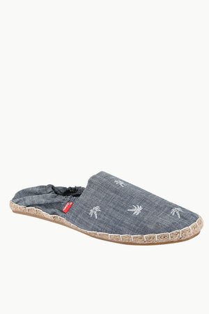 Mens Elastic Tropical Denim Espadrilles