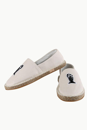 Mens Embroidered Oatmeal Espadrilles