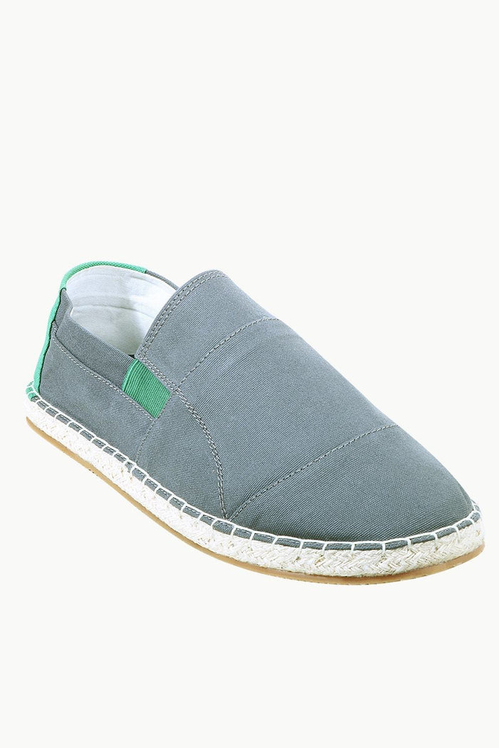 Mens Grey Cut N Sew Espadrilles