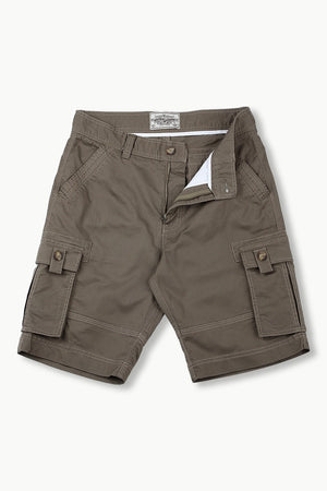 Mens Olive Green Cargo Summer Shorts