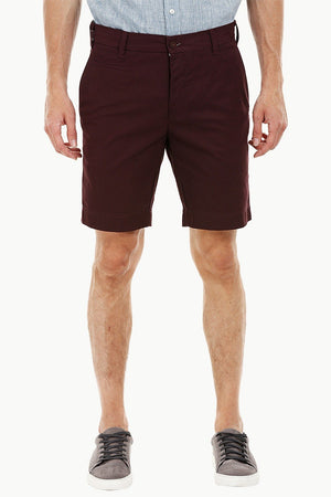 Mens Red Wine Summer Chino Shorts