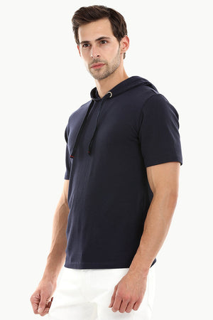 Mens Short Sleeve Hooded T-Shirt