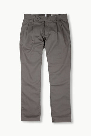 Mens Slate Grey Pleated Pants