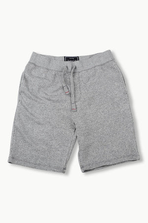 Mens Sports Grey Jacquard Knit Shorts