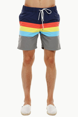 Mens Sporty Multicolour Quickdry Swimshorts