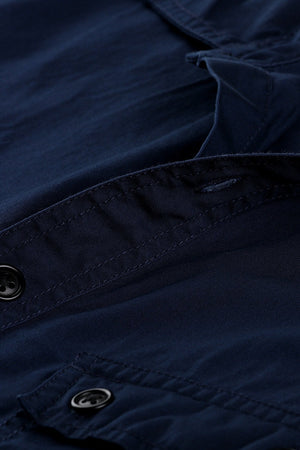 Military Style Twill Shirt With Epaulets