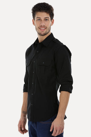 Army Styled Stretchable Shirt
